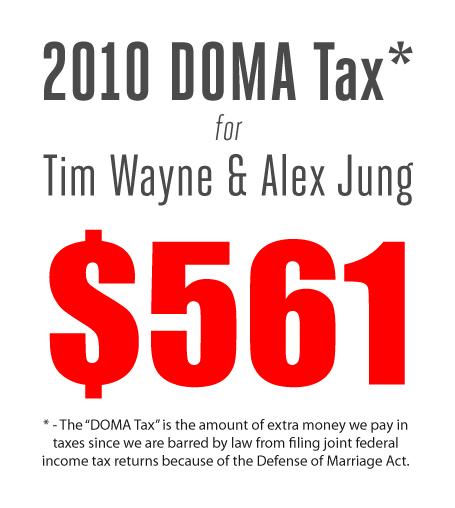 2010 DOMA Tax bill for Tim & Alex