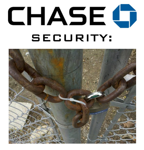 An illustration of Chase Bank security